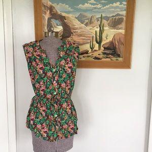 Cute Anthropologie TYLHO Floral Shirt Top Tank M